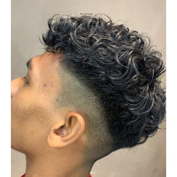 Asian Perm With Curly Top Hairstyle