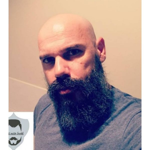 Aussie Style Beard With Long Mustache