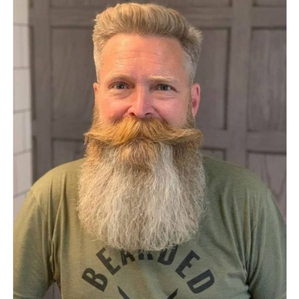 Beard Dragon Hairstyle With Long Mustache