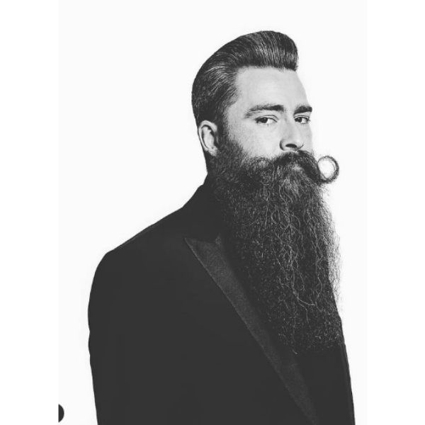 Big Long Beard With Silver Gray Strands
