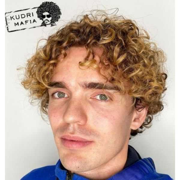 Blonde Curly Hairstyle