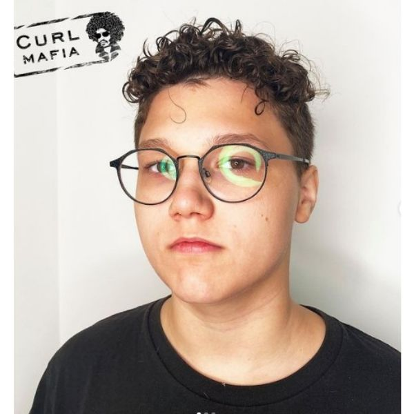 Blurry Fade with Curly Top