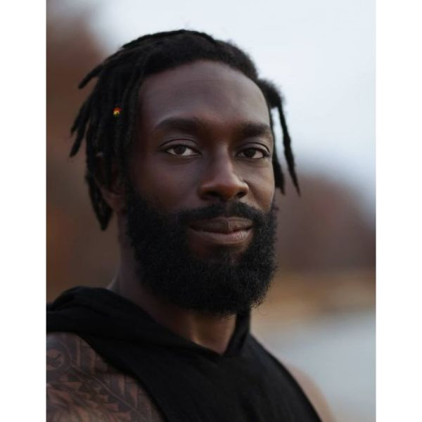 Chin Curtain Beard For Black Hair