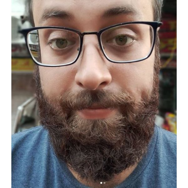 Curly Beard Shape For Oblong Face