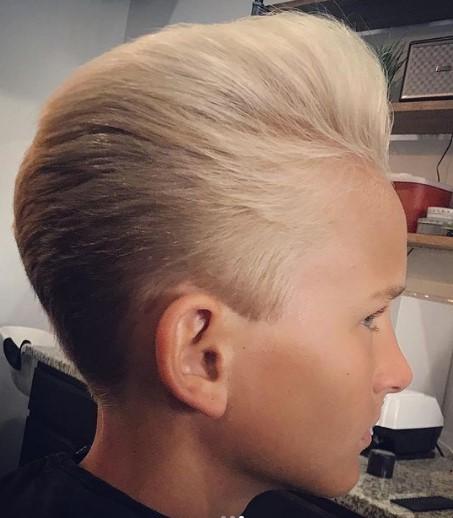 D.A. Vintage Haircut For Soft Blonde Hair