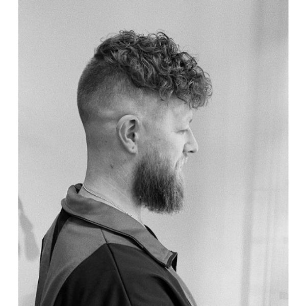 Disconnected Fade Hairstyle With Curly Top