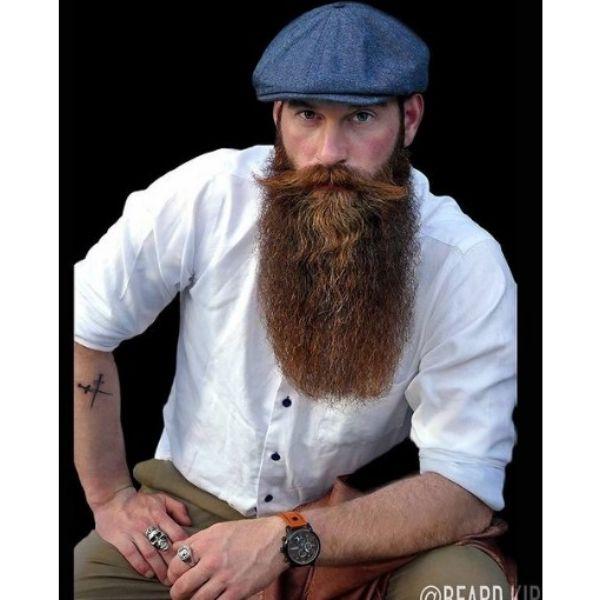 Extra Long Beard With Round Contour