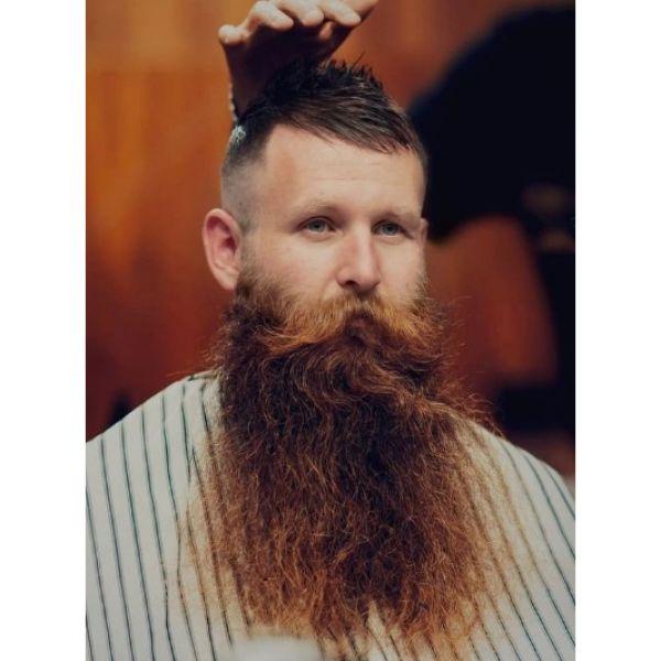 Extra Long Wavy Beard With Mustache