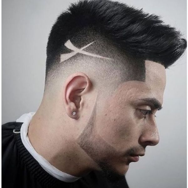 Faded Chin Strap Beard Hairstyle