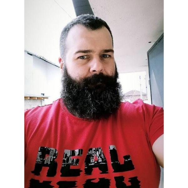 Full Bushy Beard With Moustache