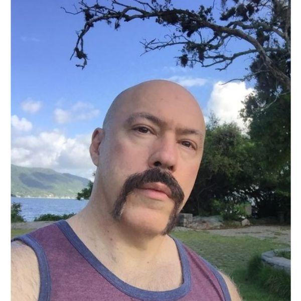 Gangsta Style Horseshoe Beard With Bald Fade