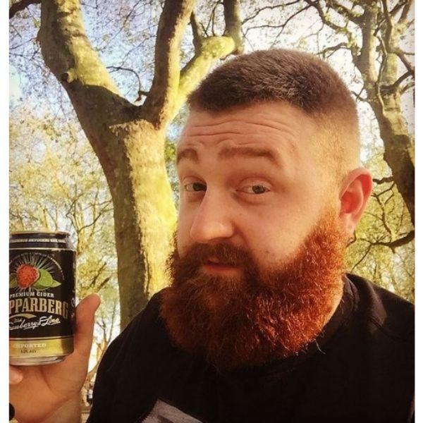 Ginger Beard For  Diamond Face