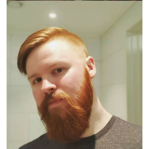 Ginger Colored Beard With Mustache
