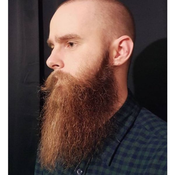 Ginger Yeard Beard For Oval Face