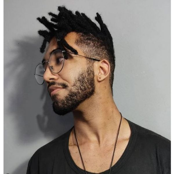 High Fade With Spiky Dreadlocks Hairstyle