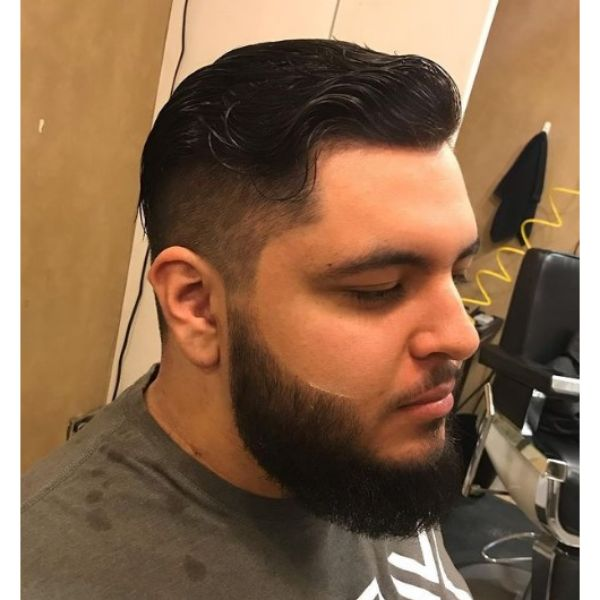 High Fade with Wavy Layered Top Haircut