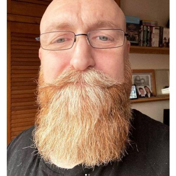 Long Beard With Handle Bar Moustache