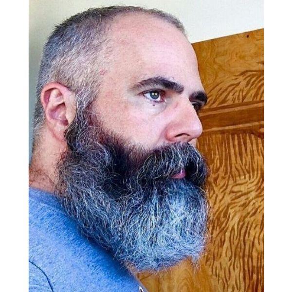 Long Full Beard With Mustache