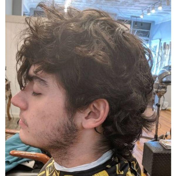 Long Shaggy Curly Haircut