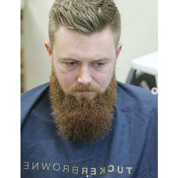 Long Spiky Ginger Colored Beard