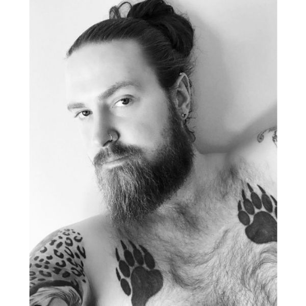 Long Viking Beard With Man Bun