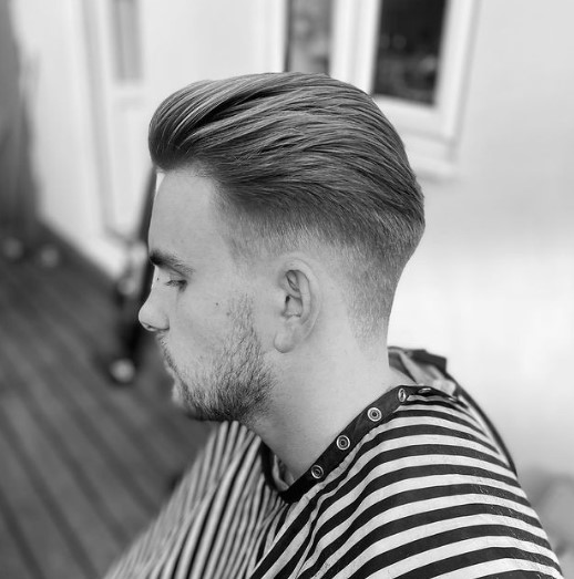 Low Fade With Layered Top Haircut