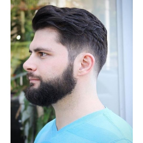 Mid Fade with Layered Top