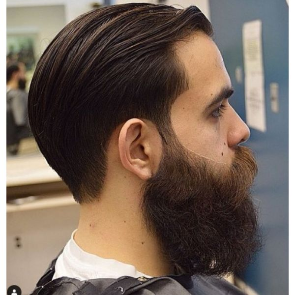 Movember Style Bushy Beard With Slick Back