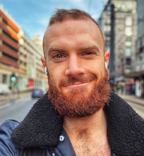 Rounded Beard With Short Mustache For Diamond Face
