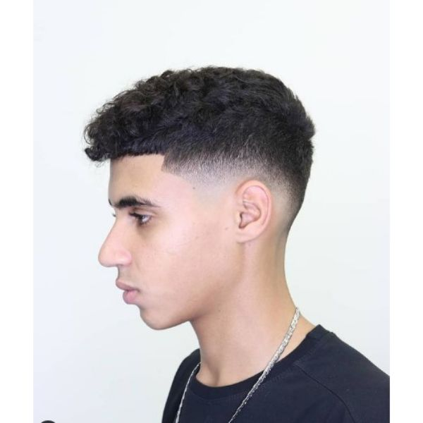 Shape Up Haircut with Curly Perm Hairstyle