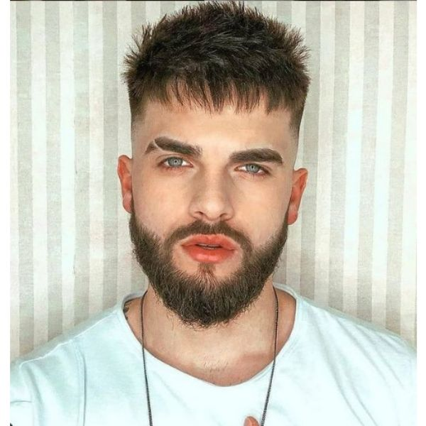 Short Beard With Cat Scratches Hairstyle