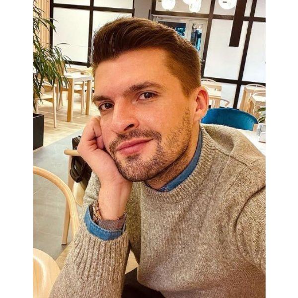Short Beard With Stubby Texture Haircut