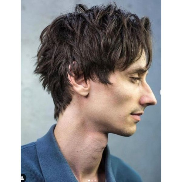 Short Layered Haircut For Men With Straight Hair