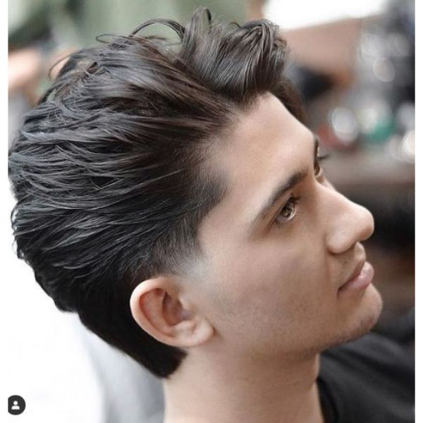 Side Swept Messy Layered Haircuts For Men layered haircuts for men
