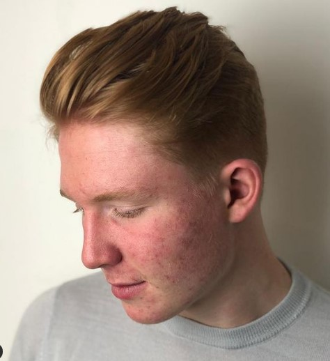 Soft Taper With Layered Top For Ginger Hair layered haircuts for men