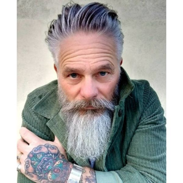 Straight Beard Shape With Mustache