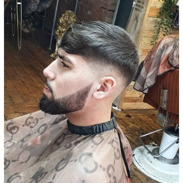 Tight Fade with Soft Layered Top Haircut