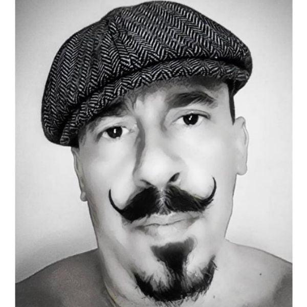 Van Dyke Beard With Handlebar Mustache