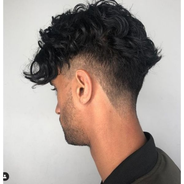 Zero Fade Undercut with Curly Top curly hairstyles for men