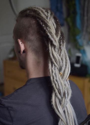 Long Haired Man With Dreadlocks