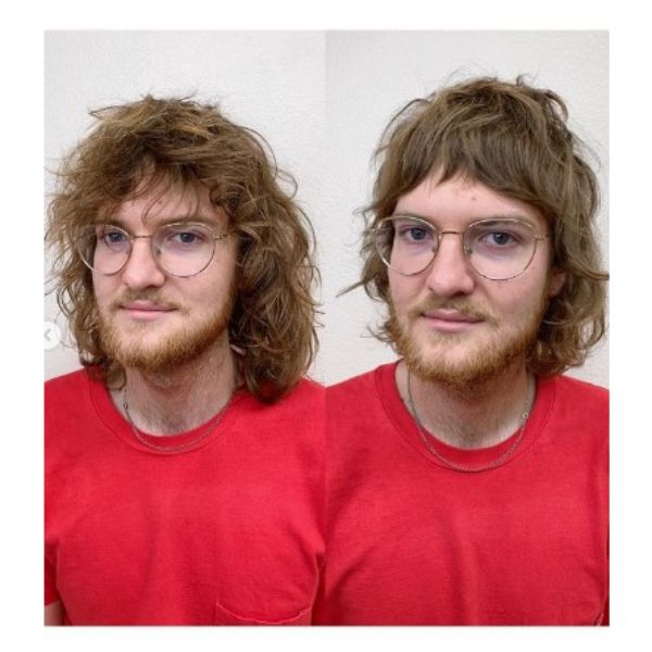Blonde Wavy Shag Haircut For Men