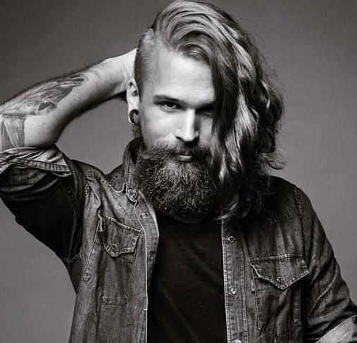 Bushy Beard With Undone Edges Hairstyle