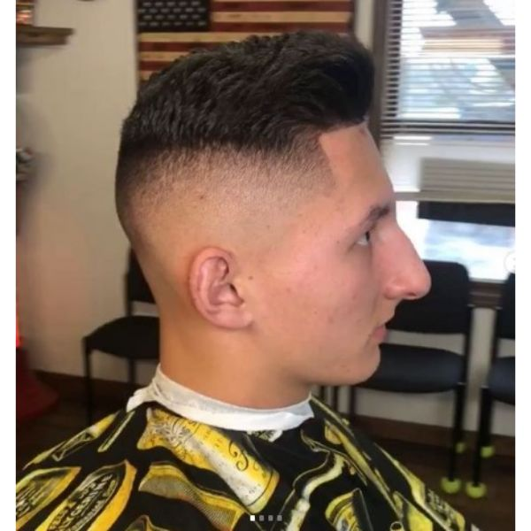 Disconnected High fade haircuts for men With Combover