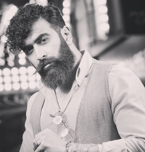 Full Beard with Mustache Hairstyle