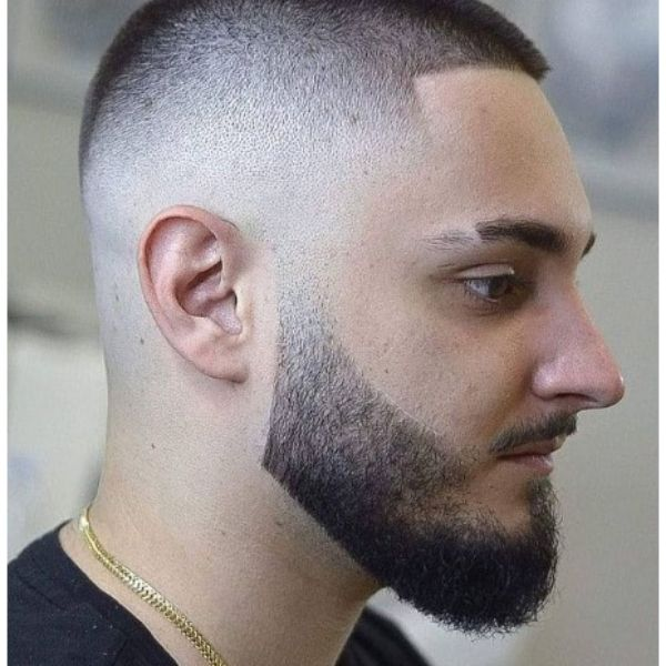 High fade haircuts for men With Cat Scratches