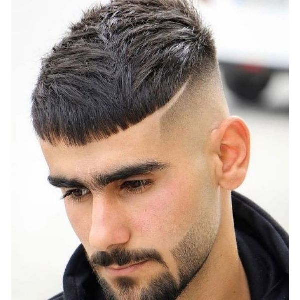 High fade haircuts for men With Crop Top And Side line