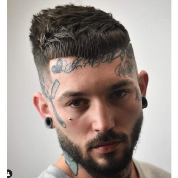 High fade haircuts for men With Cropped Messy Top