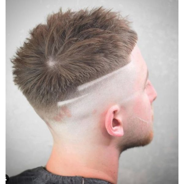 High fade haircuts for men With Cropped Top And Side Razor Design