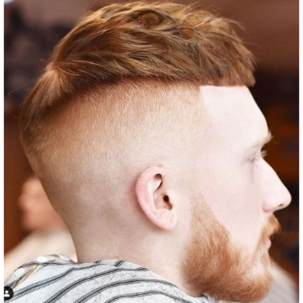 High fade haircuts for men With Cropped Top For Ginger Hair