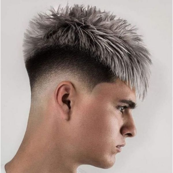 High Fade With Icy Blonde Hairstyle